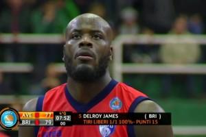 James Sidigas Avellino-Enel Basket Brindisi (Foto la stella del sud - vietata la riproduzione)