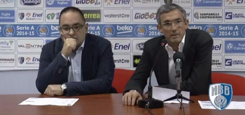 Marino conferenza stampa Brindisi-Varese