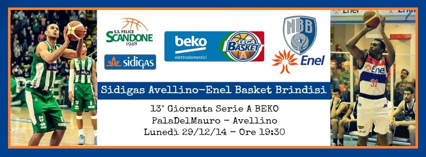 Sidigas Avellino-Enel Basket Brindisi