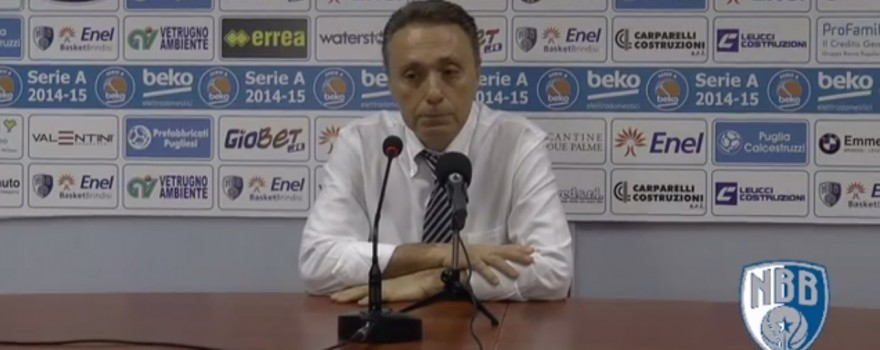 Bucchi Sala Stampa Enel Basket Brindisi-Grissin Bon Reggio Emilia recap