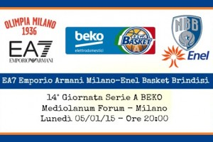 EA7 Emporio Armani Milano-Enel Basket Brindisi