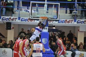 Eric Enel Basket Brindisi-Grissin Bon Reggio Emilia (foto tasco per la stella del sud - vietata la riproduzione)